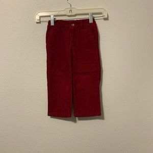 Janie And Jack Toddler Boy's Corduroy Red Pants